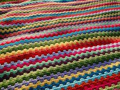 Granny Stripe Blanket 75% Complete by Forcing the Sunshine, via Flickr