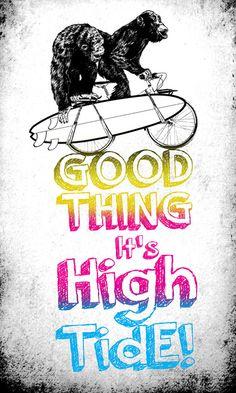 """Good Thing it's High Tide!"" Art Print by Codezero89 on Society6."