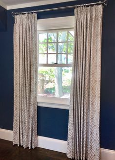 1ac45beb70e1 Clients window treatment with glass finials and chrome rod.  designerfabric   stunning  contemporary
