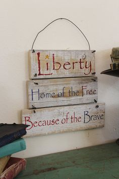 Patriotic Decor  Red white and blue by CraftedbyGale on Etsy, $15.00