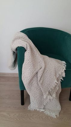 Rustic Linen blanket - Organic Blanket throw - Rustic Bedding - Textured Linen…