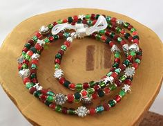 Noel red and green Christmas colors eyeglass by OklahomaMama
