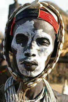 Karo Woman, Omo River Region, Ethiopia