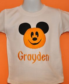 Pumpkin  Mouse Halloween Shirt Boy - pinned by pin4etsy.com