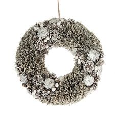 Faux Frosted Pinecone Wreath