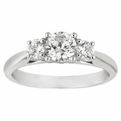 ENGAGEMENT RING 14KT WHITE GOLD
