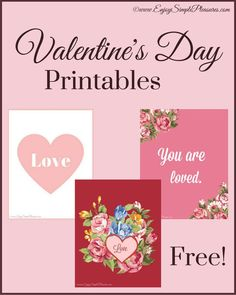 When Valentines Day comes around do you go all out, or just add subtle holiday touches? Freshen up your decor with these free Valentine's Day printables.
