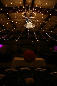 [hang lights from a hula hoop or old metal wagon wheel to create a canopy affect]