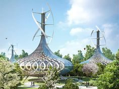 Vincent Callebaut Architectures just unveiled their futuristic master plan, Flavours Orchard, in Kunming, Southwest China.