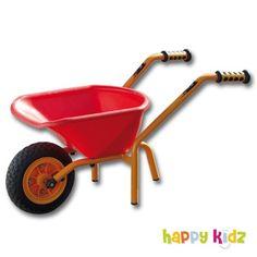 Alles, was die kleinen Baumeister begehren gibt's bei Happy Kidz. Zum Beispiel unsere schicke TopTrike - Schubkarre in leuchtendem Rot.