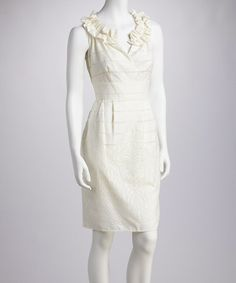 Take a look at this White Tiered Linen-Blend Dress - Women by Ceces New York on #zulily today!