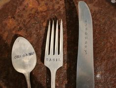 lovely pic of upcycled cutlery