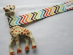 Chevron Sophie Leash Toy Tether.  via Etsy.