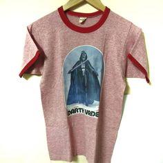 Vintage 1977 Darth Vader 3 Blend Ringer Shir Russell Athletic, Vintage Tees, Star Wars, Darth Vader, Cotton, Shirts, Dress Shirts, Starwars, Shirt