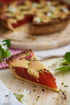 Crostata al gelo di anguria. #watermelon #food #recipe #cake #foodblogger #ricetta #cucina #dolce #love #wedding