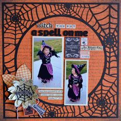 """You Put A Spell on Me"" Layout made by Authentique Paper DT Member Guiseppa Gubler"