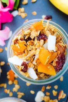 Tropical Honey Crunch Granola - The Nutritious Kitchen