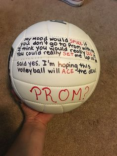 Cute volleyball promposal idea #prom #prom2016 #promproposal #proposal2016 #promideas
