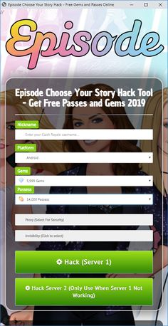 Android and iOS Game Hacks: Episode Choose Your Story Hack/Cheats
