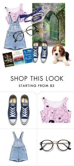 """Untitled #40"" by perlaperla ❤ liked on Polyvore featuring Converse and Shourouk"
