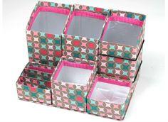 Foto: Artesanato.com- porta trecos feitos com caixas de leite