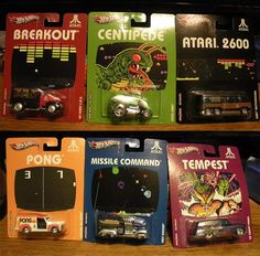 Atari 2600 Hot Wheels - I would love these to save for Gabe. I want them for me truthfully
