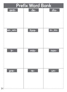 Tools for Vocabulary Instruction: A Teacher Resource Pack // advanced prefix and suffix word banks for interactive vocabulary notebooks