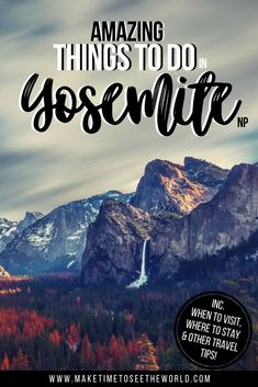 Perfect for first-time visitors, our guide to 10 Amazing Things to do in Yosemite National Park also includes a Handy Yosemite Travel Guide covering where to stay, they best time to visit and more! *** Yosemite NP   Yosemite National Park   Yosemite Hikes   Yosemite Things to do   Best Time to Visit Yosemite   Where to stay in Yosemite   Where to stay near Yosemite   The Best Time To Visit Yosemite NP #Yosemite #NationalParks #USATravel Usa Travel Guide, Travel Usa, Travel Guides, Travel Tips, National Parks Usa, Yosemite National Park, Us Destinations, Road Trip Usa, United States Travel