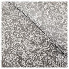 Devin Paisley Comforter Set (Queen) Grey - 7pc : Target