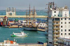 Cadiz Spain, Tall Ships, Urban Landscape, Sailing, Framed Prints, Train, Style, Boats, Candle