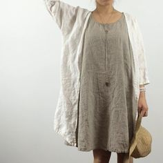 Linen Cardigan. Loose fit. Simple. 3/4 sleeves. Kimono style Soft and…