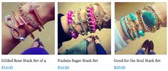 CLEARANCE STACK SETS at www.popofchic.com