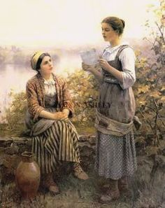 The Letter ~ Daniel Ridgway Knight ~ (American: 1839-1924)