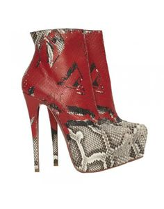 CHRISTIAN LOUBOUTIN  20th Anniversary Daf 160 python boots