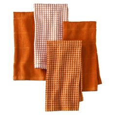 Great Assorted Orange Kitchen Towels  Set Of 4.Opens In A New Window