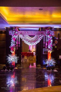 Telugu wedding decor More Wedding Hall Decorations, Diy Diwali Decorations, Marriage Decoration, Festival Decorations, Flower Decorations, Wedding Gate, Wedding Mandap, Wedding Chairs, Telugu Wedding
