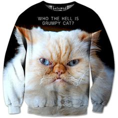 dab7469c4 Grumpier Cat Sweatshirt Grumpy Cat Shirt, Cat Sweatshirt, Crew Neck  Sweatshirt, Beloved Shirts