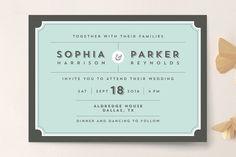 Dapper Wedding Invitations by Susan Asbill at minted.com