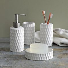 I love the Honeycomb Bath Accessories on westelm.com