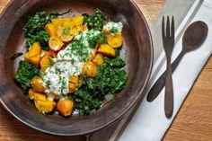 Golden Beet & Beet Greens Salad with Minty Dill Yogurt
