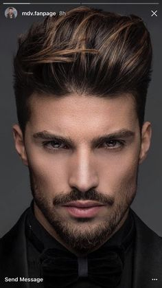 Sweet Men Hair Color Highlights, Black Hair With Brown Highlights, Mens Hair Colour, Hair Color For Black Hair, Dark Hair, Cool Hairstyles For Men, Haircuts For Men, Men's Hairstyles, Boys Colored Hair