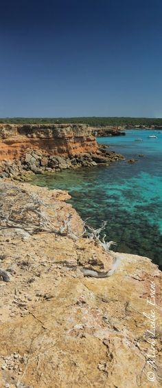 A slice of Cala Saona rocks, Formentera.  Sanoa Island, DOMINICAN REPUBLIC