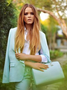 @roressclothes clothing ideas #women fashion street style work in style mint suit