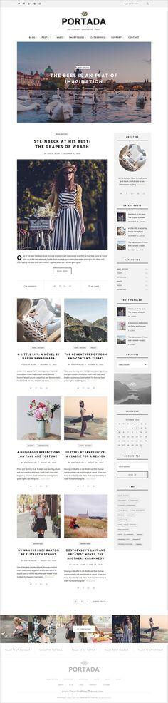 Portada is an elegant responsive #WordPress #blog theme for writer, lifestyle and #fashion bloggers websites download now➩ https://themeforest.net/item/portada-elegant-wordpress-blogging-theme/19032008?ref=Datasata