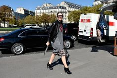 See All the Street Style From Paris Fashion Week: Veronique Tristram