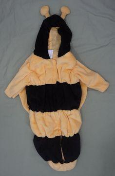 GYMBOREE Costume 6-9 Mo Bee Theater Wings Polyester Black Yellow Unisex Nature #Gymboree #CompleteCostume
