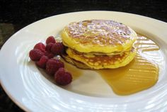 These pancakes are flavored with orange juice and zest, along with buttermilk and eggs. Enjoy these breakfast pancakes any season of the year.