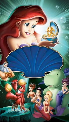 The Little Mermaid: Ariel's Beginning Phone Wallpaper Ariel Disney, Princesa Ariel Da Disney, Disney Little Mermaids, Ariel The Little Mermaid, Cute Disney, Disney Art, Disney Magic, The Little Mermaid Poster, Ariel Mermaid