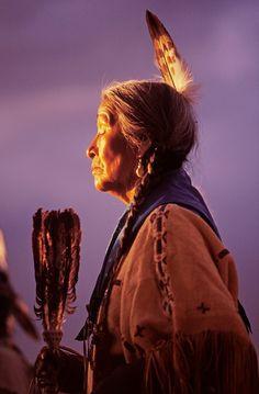 Traditional woman dancer, Taos Pueblo Pow Wow, Taos, New Mexico