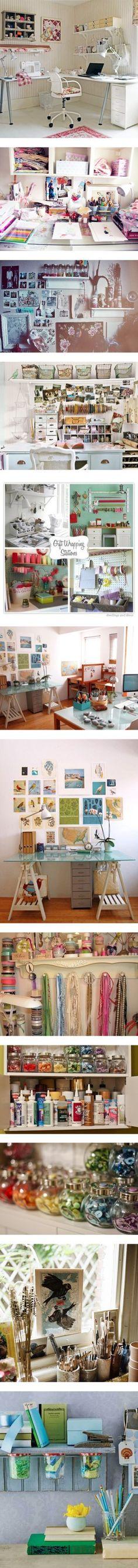 """""""Arts and Craft Room Inspiration"""" by sailorgirl ❤ liked on Polyvore UM SHOW de inspirações!"""